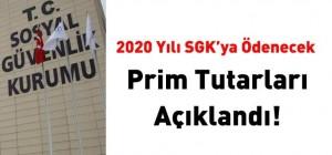 2020 yılı SGK'ya ödenecek prim miktarları