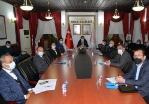 Bolu İl Hıfzıssıhha Meclisi Toplandı